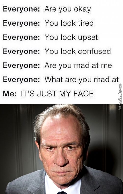 Resting Bitch Face Syndrome