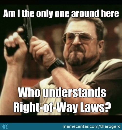 Right Of Way Laws