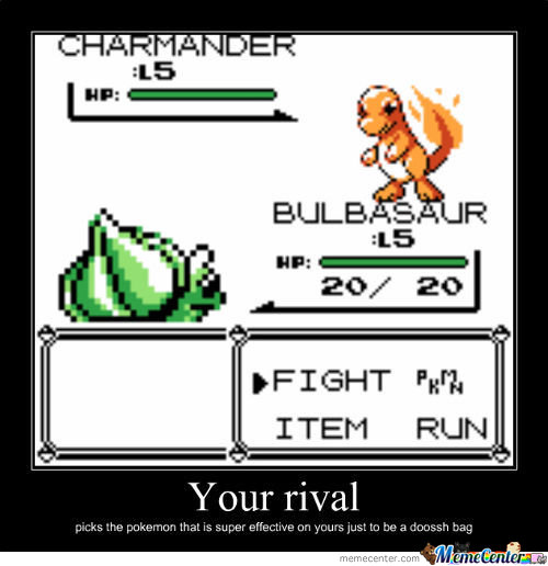 Rival Y U No Pick Squirtle