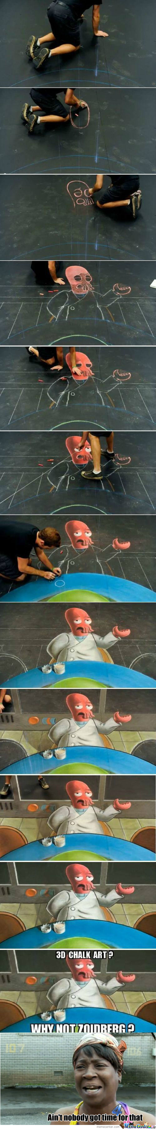 [RMX] 3D Chalk Art? Why Not....