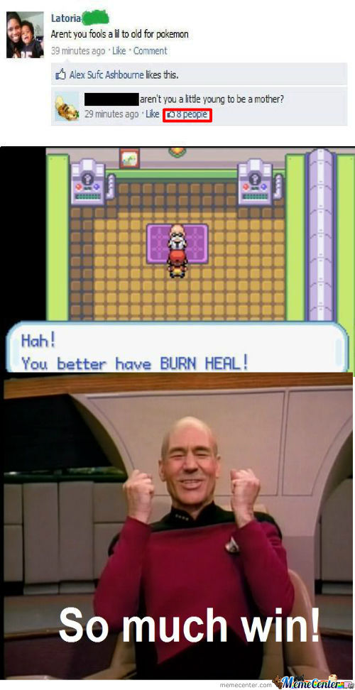 You better have burn heal meme