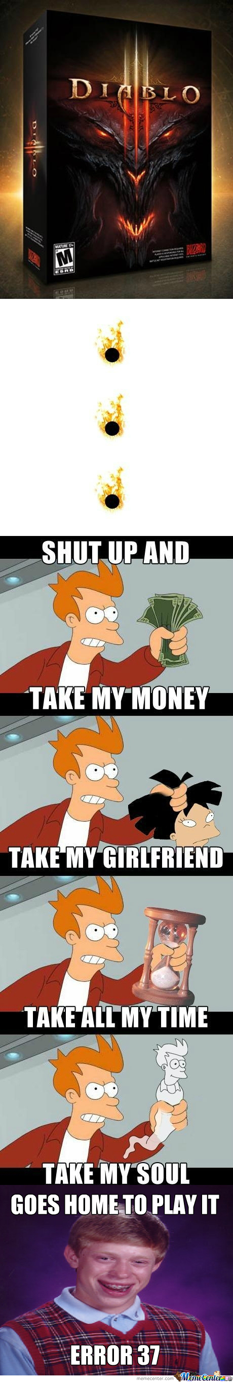 [RMX] Diablo Iii, Shut Up And Take My Money
