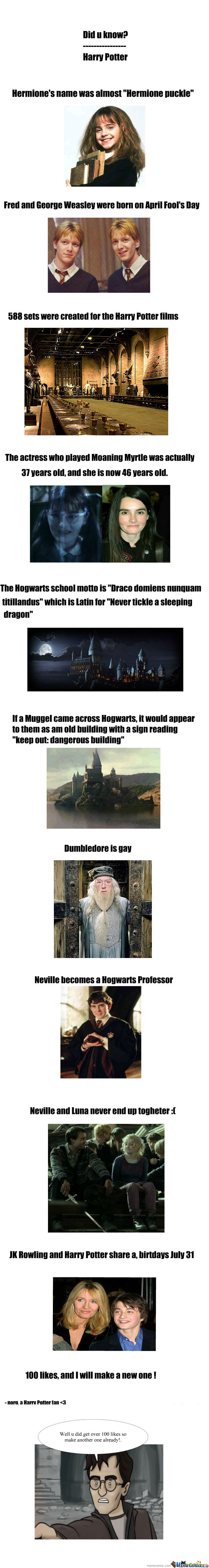 [RMX] Did U Know? Harry Potter