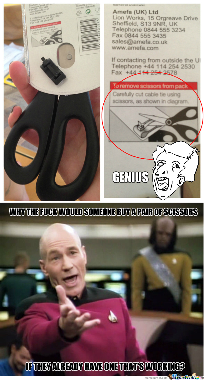 [RMX] Genius Scissors Packaging