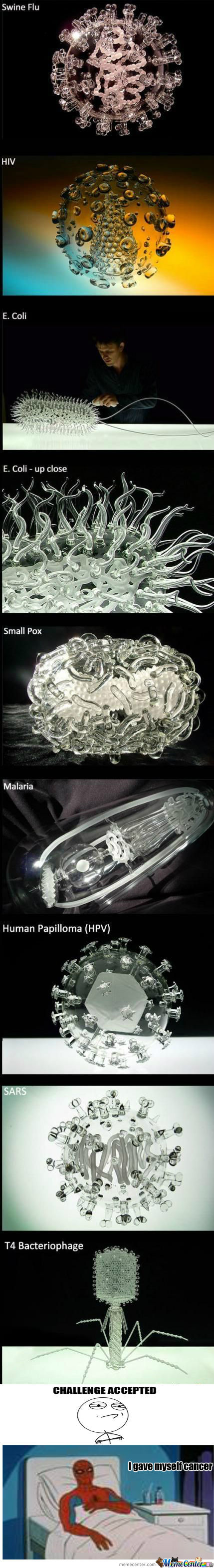 [RMX] Glass Sculptures Of Diseases