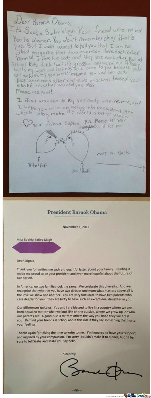 [RMX] Good Guy Obama Ansewers Little Girl's Letter