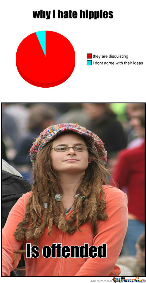 Funny Hippie Meme : Rmx hate hippies by zoey meme center