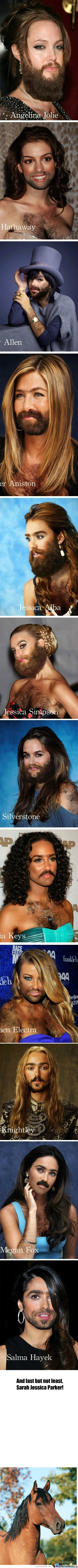 [RMX] Imagine Your Favorite Celebrity With A Full-Faced Beard! There You Go...