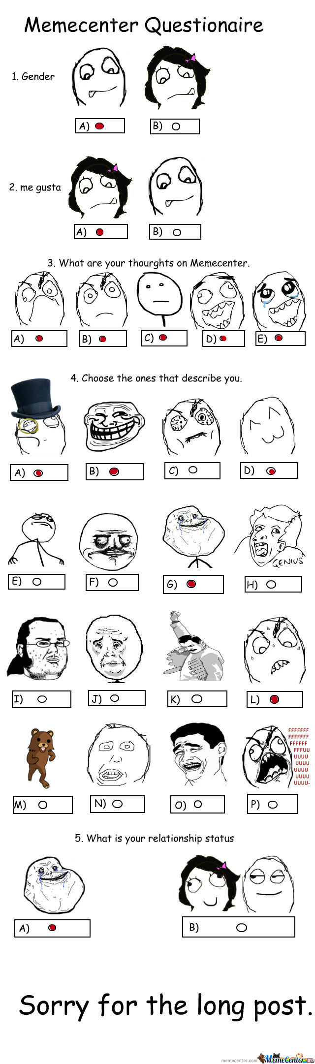 [RMX] Memecenter Questionaire