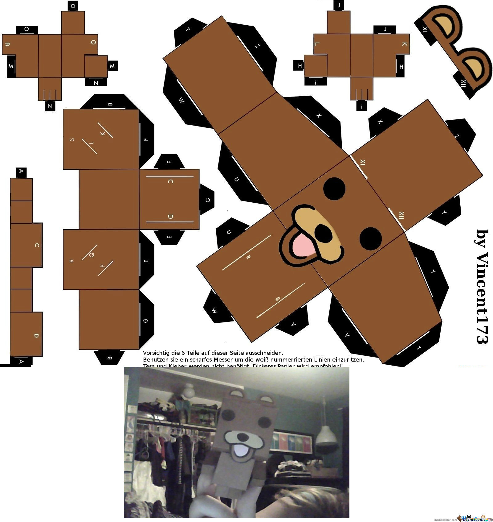 [RMX] pedobear paper craft