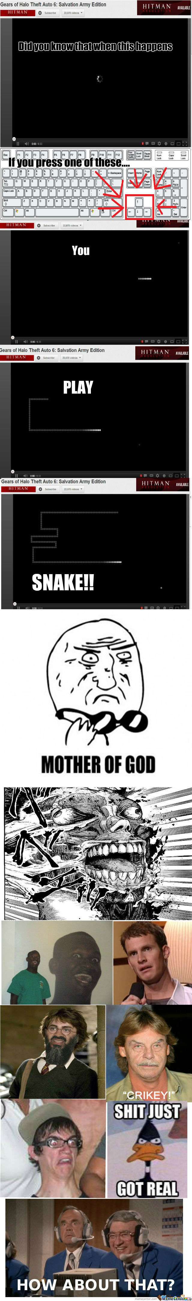 [RMX] Playing Snake on Youtube when buffering