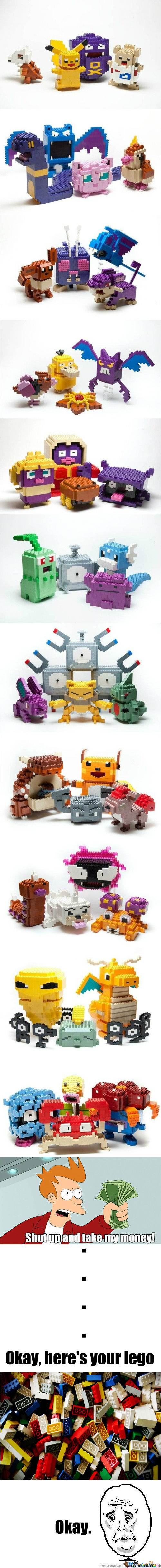 [RMX] [RMX] Awesome lego sculptures - Pokemon