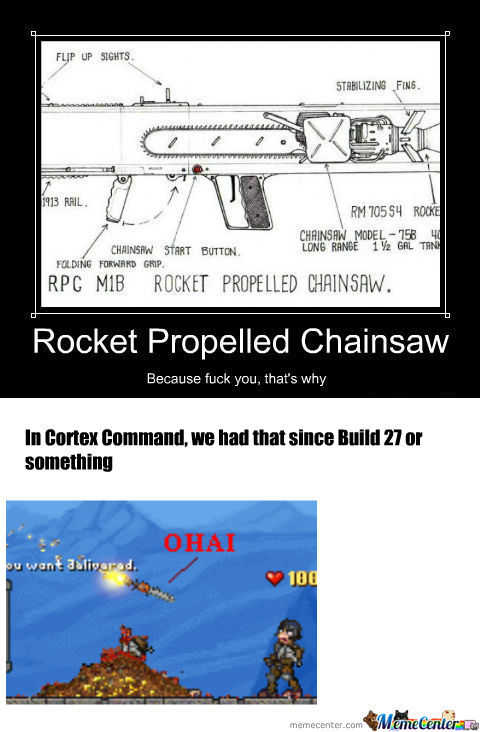 [RMX] Rocket Propelled Chainsaw