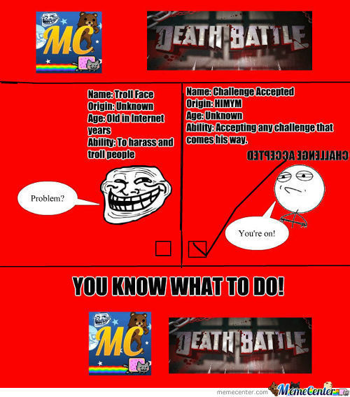 [RMX] Round 1 Rage Faces: Troll Face V Challenge Accepted