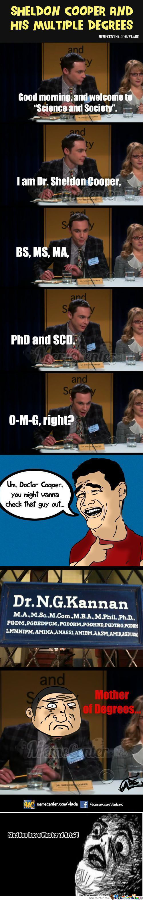 [RMX] Sheldon Cooper And His Degrees