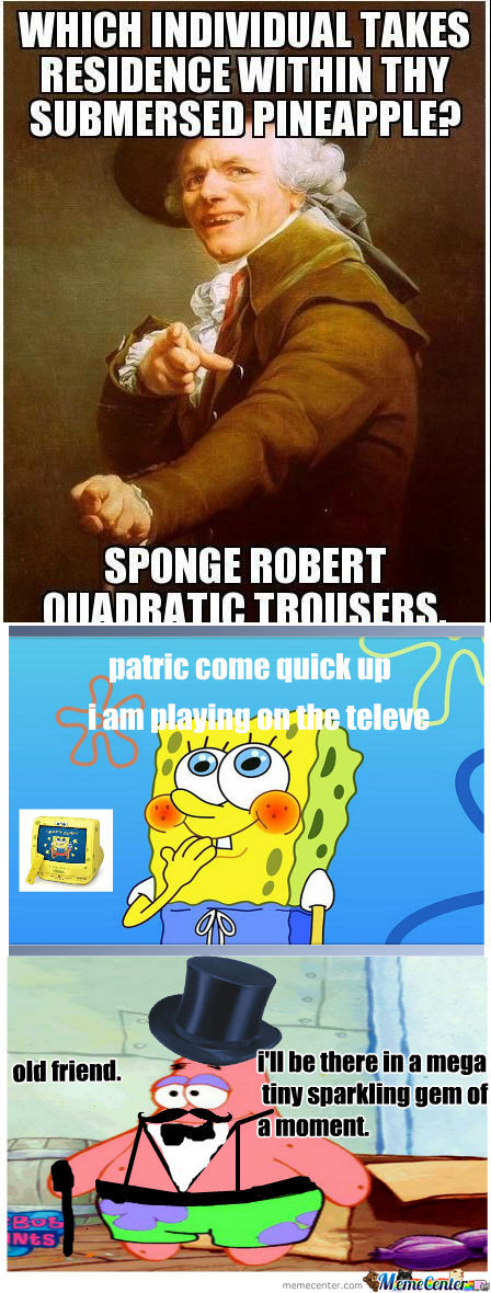 [RMX] Sponge Robert Quadratic Trousers!