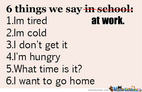 [RMX] Things We Say In School