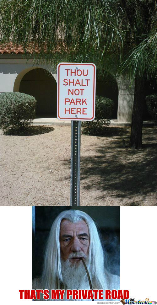 [RMX] Thou Shalt Not Park Here