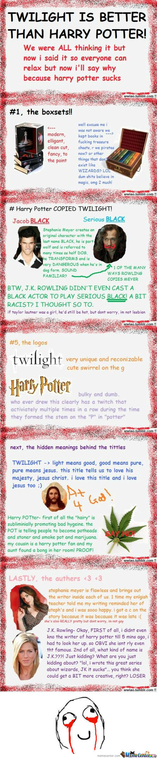 [RMX] Twilight is better than Harry Potter