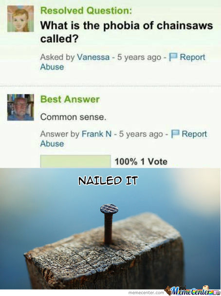 [RMX] Yahoo Answer: Nailed It
