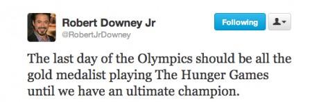 Robert Downey On The Last Dayof Olympics