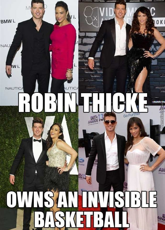 Robin Thicke And His Invisible Basketball