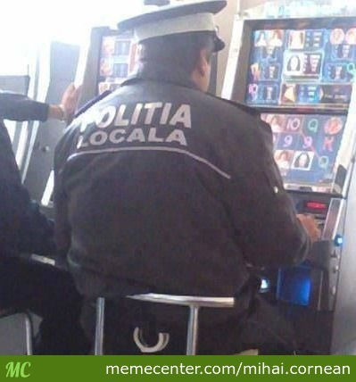 Romanian Police Hard At Work