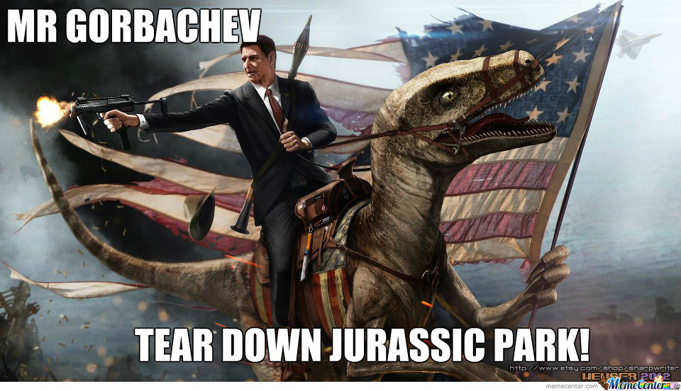 Ronald Reagen On A Dino, Your Argument Is Invalid