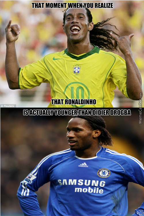 Ronaldinho The Legend, Is Younger Than...him?