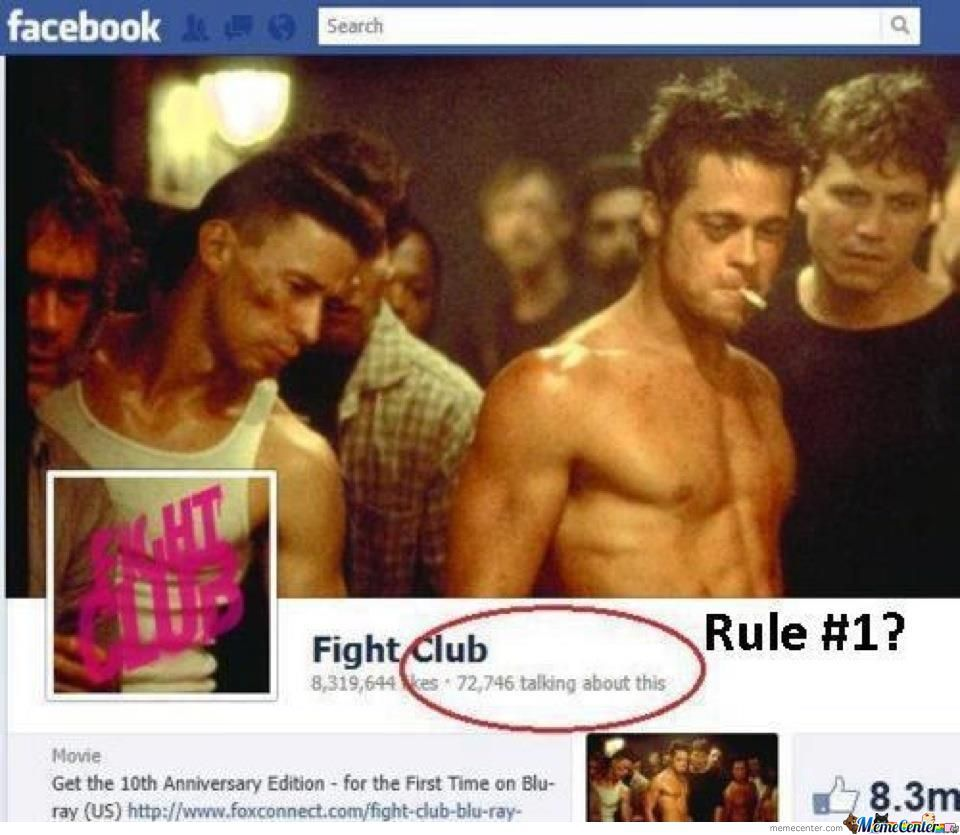 Rule #1: Don't Talk About Fight Club