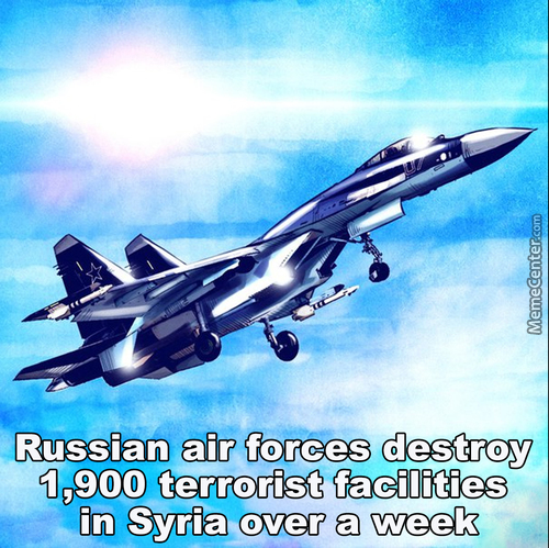 Russian Air Forces Destroy 1,900 Terrorist Facilities In Syria Over A Week