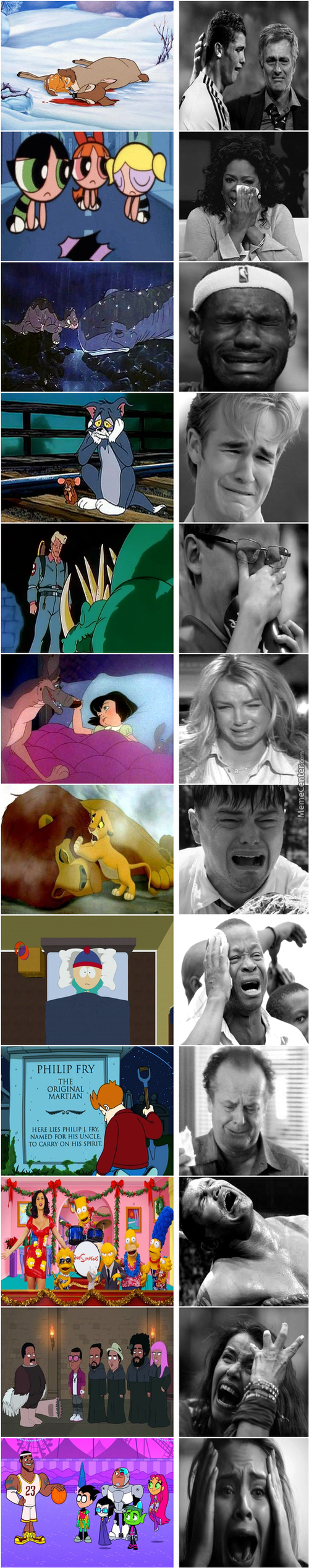 Saddest Cartoon Moments