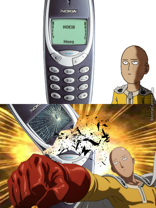 One Punch Man vs Nokia