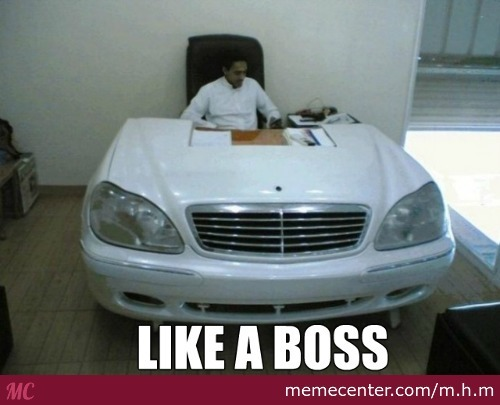 Saudi Guy Made His Mercedes Into A Office Table