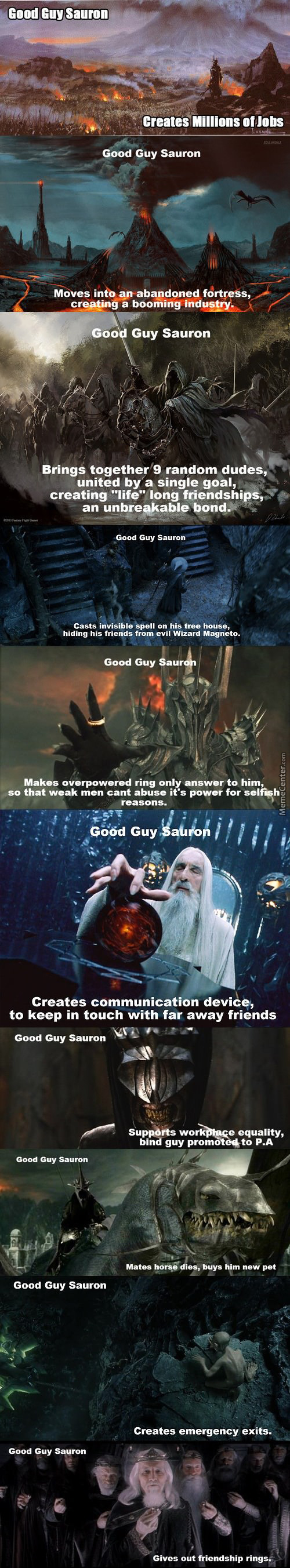 Sauron Was Just Misunderstood This Whole Time!