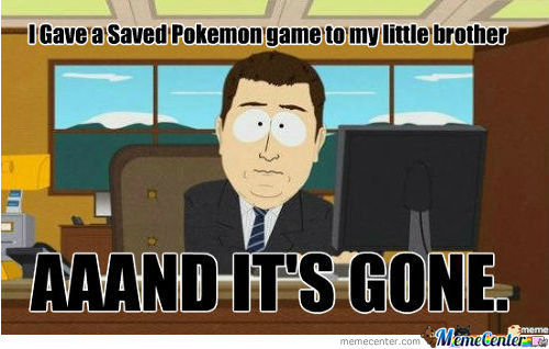 Saved Pokémon Game
