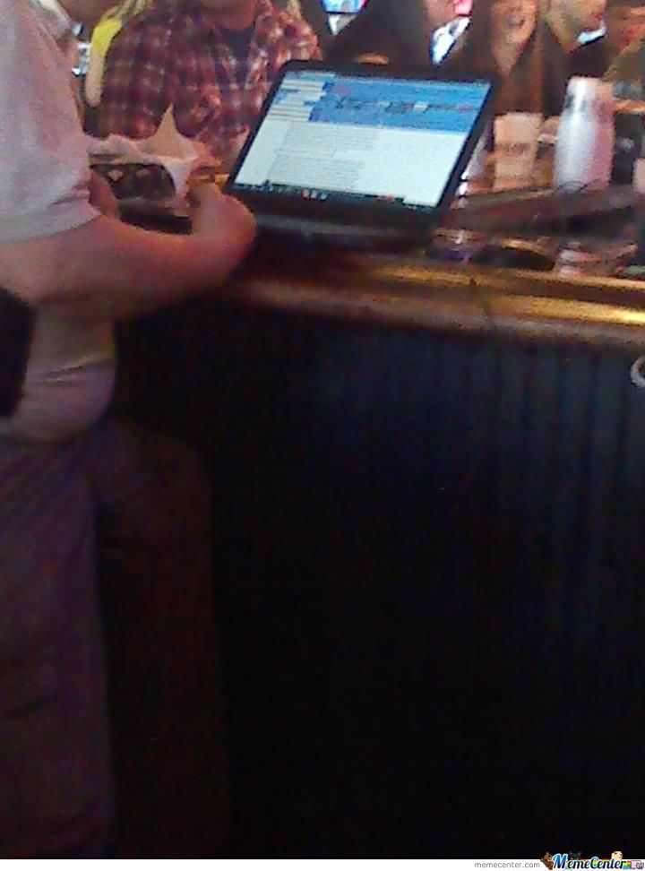 Saw This Guy At A Bar. He Had 8 Toolbars