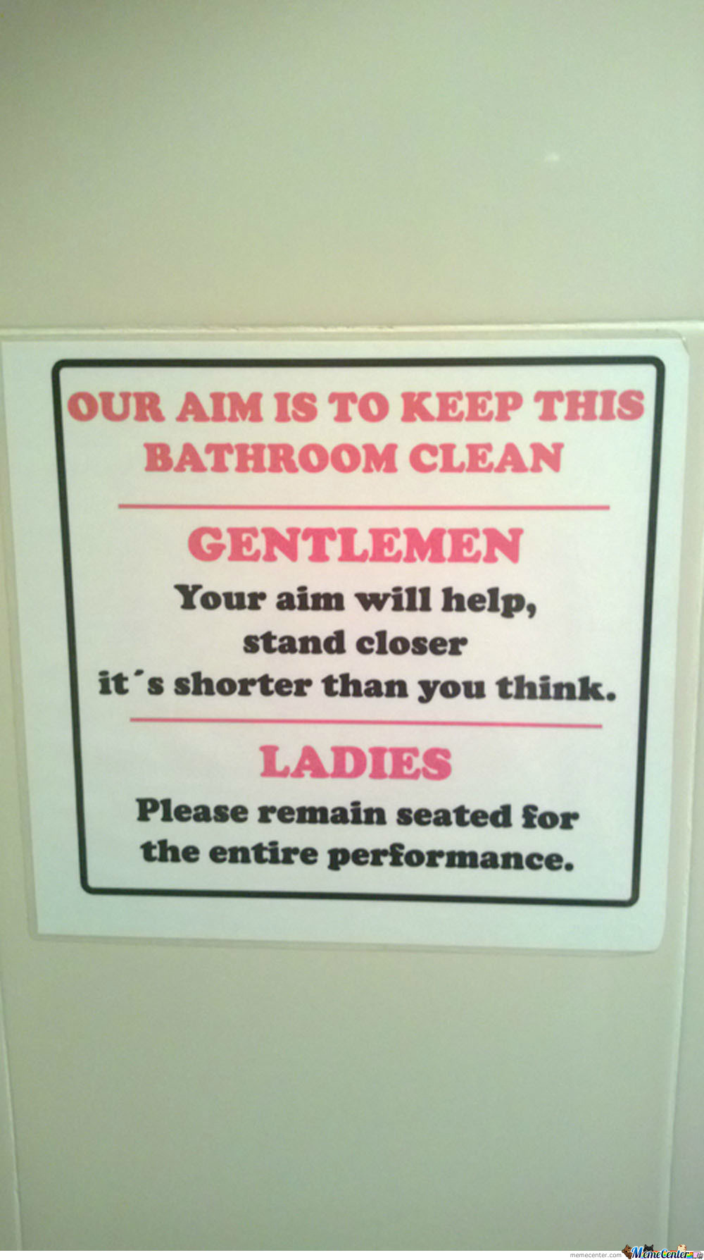Saw This Last Night At A Bar's Restroom