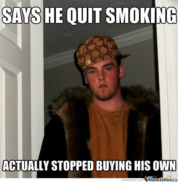 Says He Quit Smoking