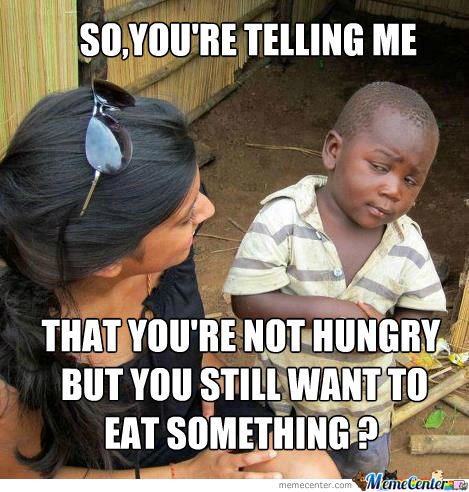 Sceptical 3Rd World Kid On Being Hungry