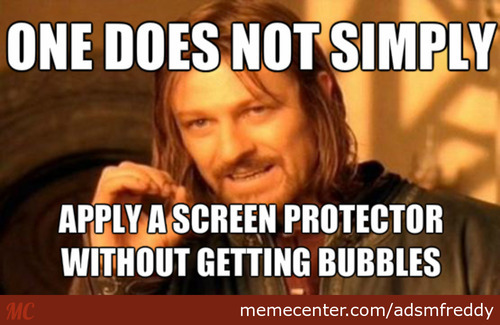 Screen Protector Bubbles