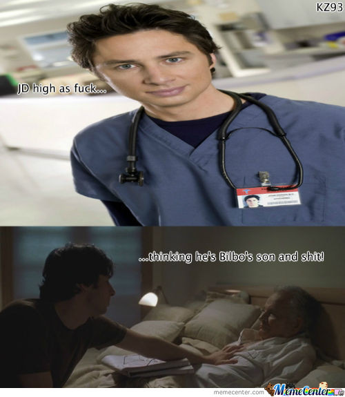 Scrubs And Lotr In Harmony At Garden State.