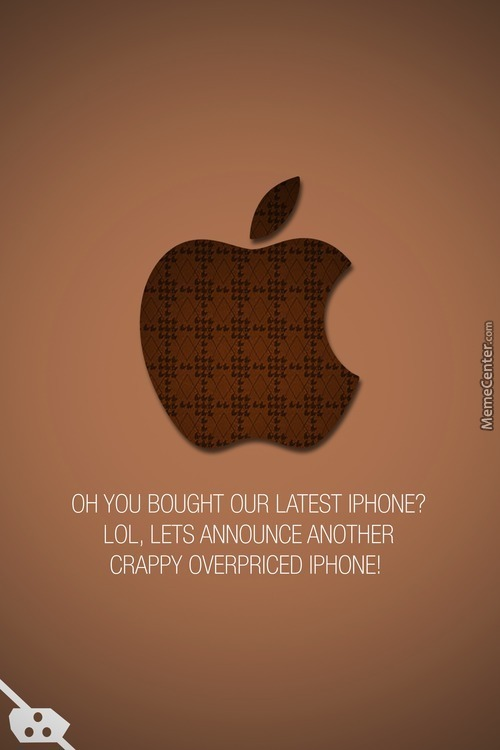 Scumbag Apple. Hipsters' Worst Nightmare