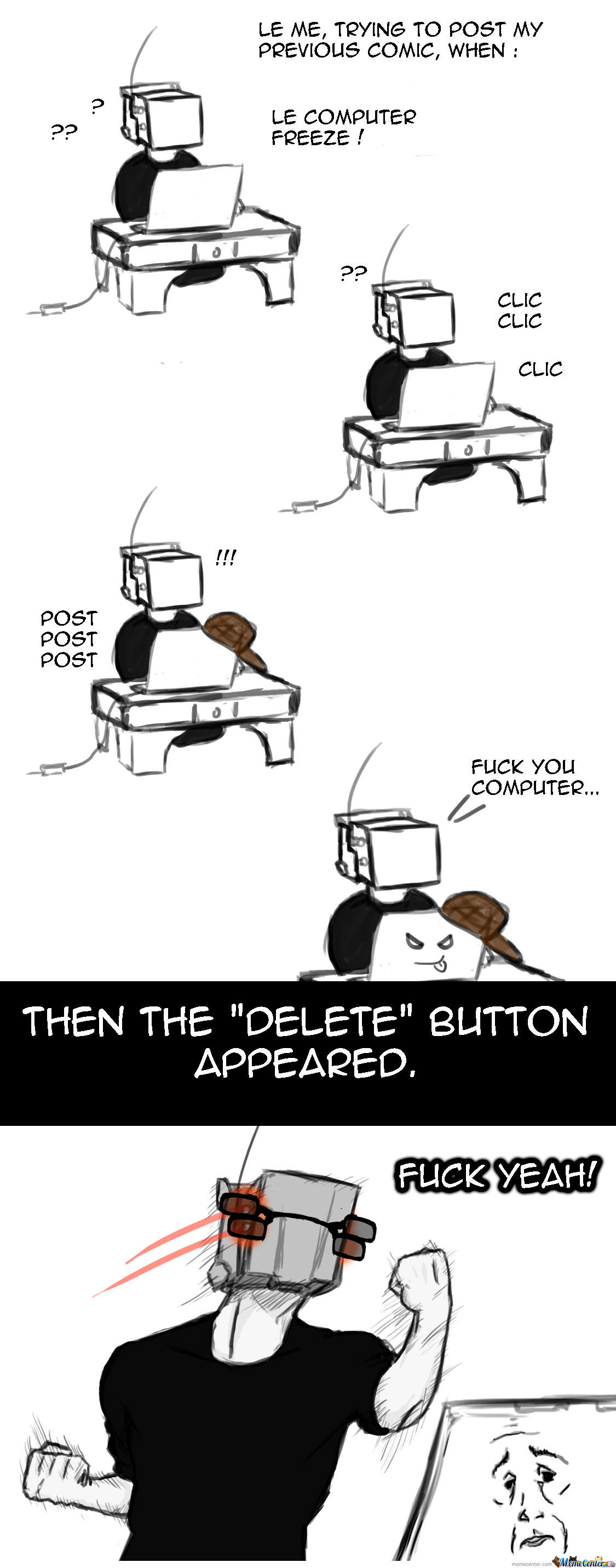 Scumbag Computer Vs New Delete Button