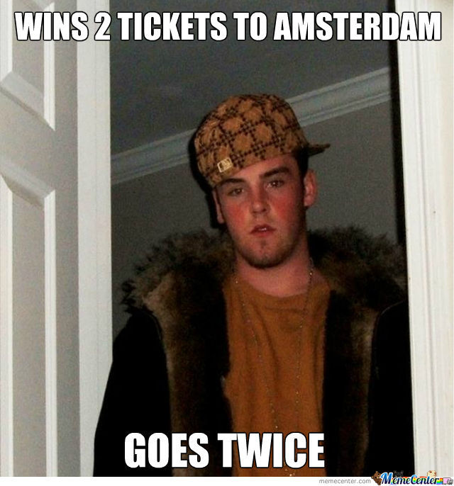 Scumbag Steve Doesn't Like To Share