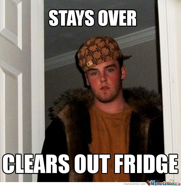 Scumbag Steve : Fridge