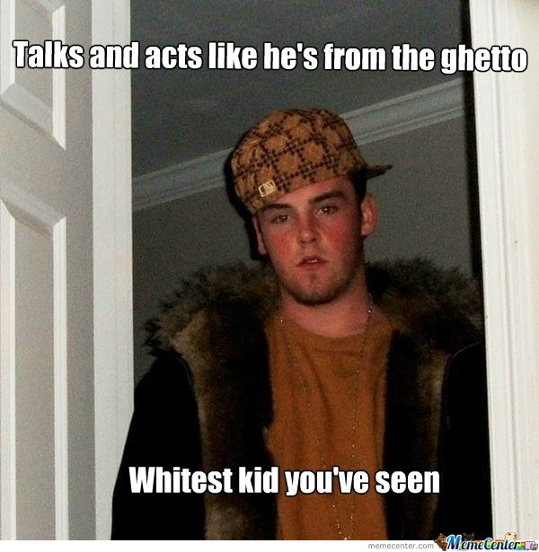 scumbag white boy