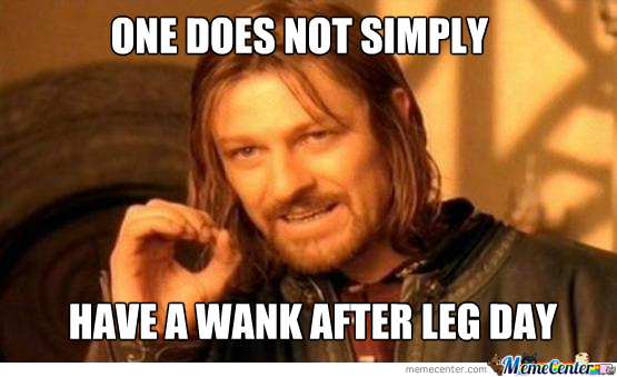 Sean Bean Leg Day Wank