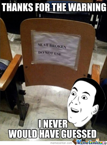 Seat Broken Do Not Use