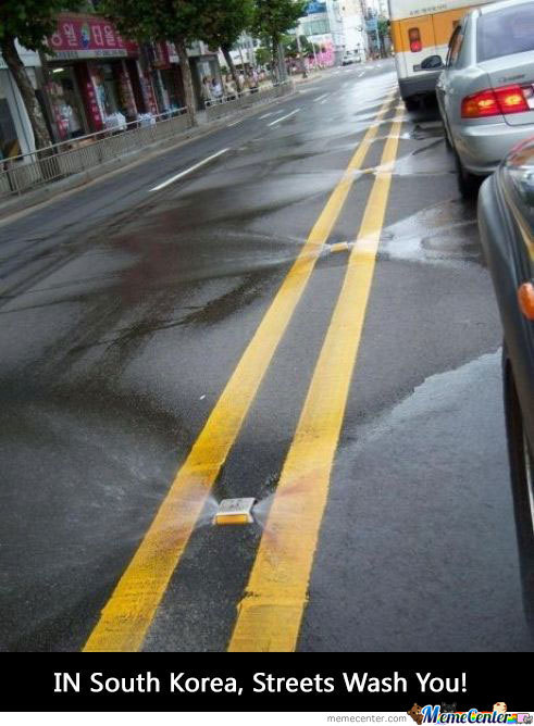 Self Cleaning Streets In Korea